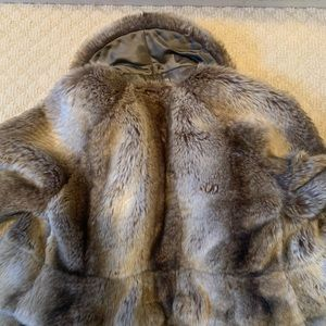Juicy Couture Faux Mink fur cropped coat